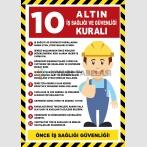 EF2589 - 10 Altın İş Sağlığı ve Güvenliği Kuralı