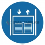 EF2634 - Yük Asansörü İşareti/Levhası/Etiketi