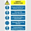 KT4109 - Havuz kuralları uyarı tabelası