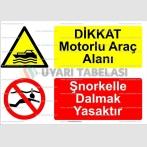 KT 4036-Dikkat motorlu araç alanı.Şnorkelle dalmak yasaktır