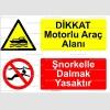 KT4036-Dikkat motorlu araç alanı, Şnorkelle dalmak yasaktır
