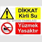 KT 4052-Dikkat kirli su.Yüzmek yasaktır