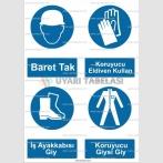 KKD 4000 - Baret, koruyucu eldiven, iş ayakkabısı, koruyucu giysi