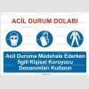 KKD4004 - Acil durum dolabı levhası, KKD