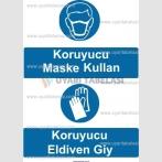 KKD 4009 - Koruyucu maske kullan, koruyucu eldiven giy