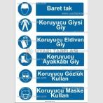 KKD 4010 - Baret, giysi, eldiven, gözlük, maske, ayakkabı