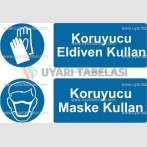 KKD 4014 - Koruyucu eldiven kullan, koruyucu maske kullan