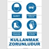 KKD4033 - Baret, gözlük, antistatik ayakkabı, eldiven kullanmak zorunludur