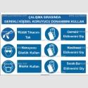KKD4053 - Çalışma sırasında gerekli KKD'yi kullan, kulak tıkacı, gözlük, maske, cerrahi, kesilmez, sıcak su eldiveni