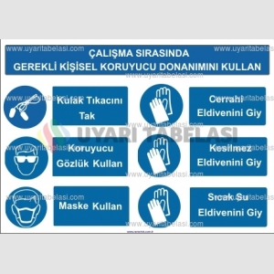KKD 4053 - Çalışma sırasında gerekli KKD'yi kullan, kulak tıkacı, gözlük, maske, cerrahi, kesilmez, sıcak su eldiveni