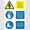 E4082 - Dikkat elektrik tehlikesi, yalıtkan eldiven, ayakkabı kullan