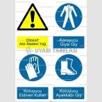 A 4014 - Dikkat atık madeni yağ, koruyucu giysi, eldiven, ayakkabı giy
