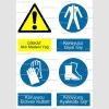 A4014 - Dikkat atık madeni yağ, koruyucu giysi, eldiven, ayakkabı giy