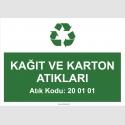 A1186-Kağıt ve karton atıkaları 20 01 01