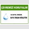 AT1023 - Çevremizi koruyalım, Su saftır, temizdir, Suyu insan kirletir