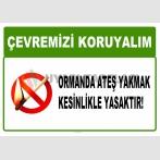 AT 1037 - Çevremizi koruyalım, Ormanda ateş yakmak kesinlikle yasaktır