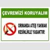 AT1037 - Çevremizi koruyalım, Ormanda ateş yakmak kesinlikle yasaktır