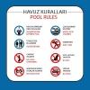 AT1079 - Türkçe-İngilizce Havuz Kuralları Tabelası