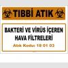 A180103-8 - Bakteri ve Virüs İçeren Hava Filtreleri