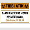 A180202-8 - Bakteri ve Virüs İçeren Hava Filtreleri