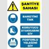 AT1108 - Şantiye Sahası, Baretini Tak, Koruyucu Ayakkabını Giy, Fosforlu Yeleğini Giy