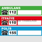 AC 5189 - Ambulans, itfaiye, polis