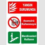 AT 1159 - Yangın Durumunda Asansörü Kullanmayın, Merdivenleri Kullanın