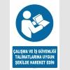 AT1186 - Çalışma ve İş Güvenliği Talimatlarına Uygun Şekilde Hareket Edin