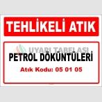 A050105 - Petrol döküntüleri