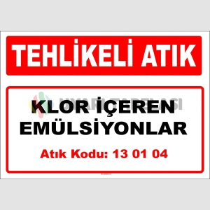 A130104 - Klor içeren emülsiyonlar