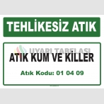 A 010409 - Atık kum ve killer