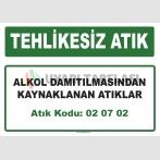 A 020702 - Alkol damıtılmasından kaynaklanan atıklar