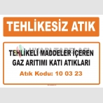MA100323 - Tehlikeli maddeler içeren gaz arıtımı katı atıkları