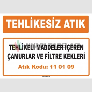 MA110109 - Tehlikeli maddeler içeren çamurlar ve filtre kekleri
