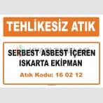 MA160212 - Serbest asbest içeren ıskarta ekipman