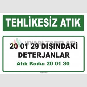 A 200130 - 20 01 29 dışındaki deterjanlar