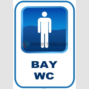 AT1198 - Bay WC Tabelası