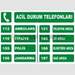 AT 1222 - Acil Durum Telefonları