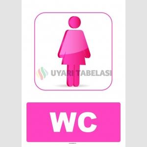AT 1229 - Kız Çocuk WC Tabelası