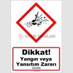 GHS1015 - Dikkat, Yangın veya Yansıtım Zararı (H204)