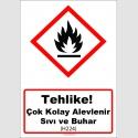 GHS1022 - Tehlike, Çok kolay alevlenir sıvı ve buhar (H224)