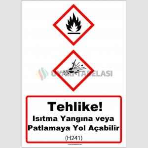 GHS 1028 - Tehlike, ısıtma yangına veya patlamaya yol açabilir (H241)