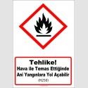 GHS1031 - Tehlike, Hava ile temas ettiğinde ani yangınlara yol açabilir (H250)