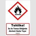 GHS1035 - Tehlike, Su ile temas ettiğinde alevlenir gazlar yayar (H261)