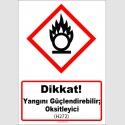 GHS1038 - Dikkat, Yangını güçlendirebilir, oksitleyici (H272)