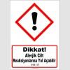 GHS1045 - Dikkat, Alerjik cilt reaksiyonlarına yol açabilir (H317)