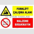 AT 1247 - Forklift Çalışma Alanı, Malzeme Bırakmayın