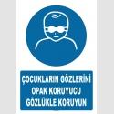 AT1273 - Çocukların Gözlerini Opak Koruyucu Gözlükle Koruyun
