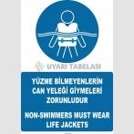 AT 1286 -  Türkçe-İngilizce Yüzme Bilmeyenlerin Can Yeleği Giymeleri Zorunludur