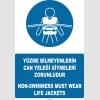AT1286 -  Türkçe-İngilizce Yüzme Bilmeyenlerin Can Yeleği Giymeleri Zorunludur